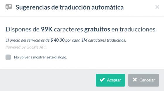Plugin traducción automática de Google Translator