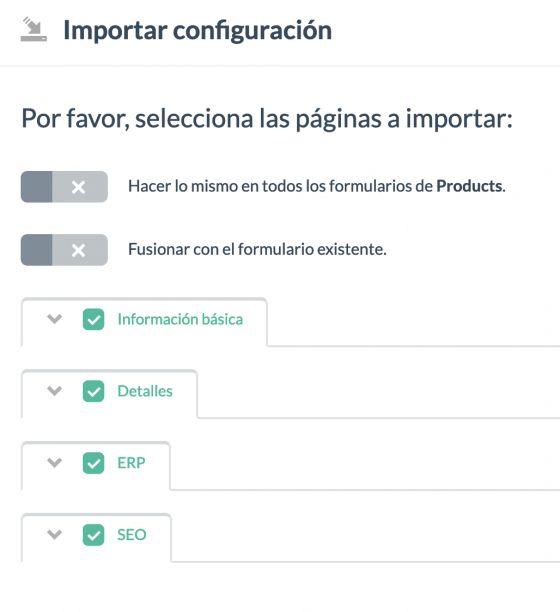 Exportación configuración en un archivo Xly