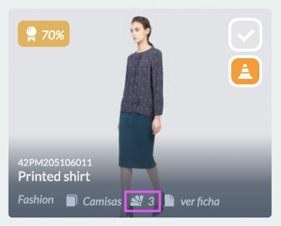 Icono variantes en un producto