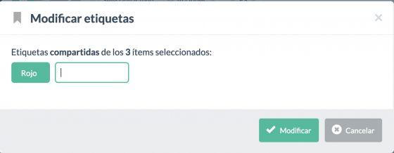 """Ejemplo creación etiqueta """"Rojo"""""""