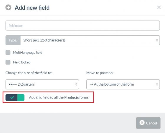 Adding a field to a form for all Families