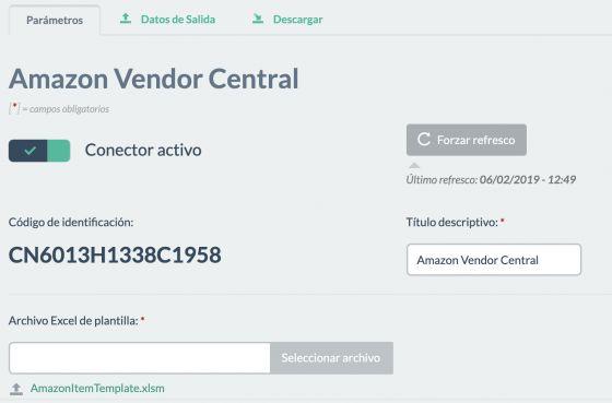 Conector Amazon Vendor Central