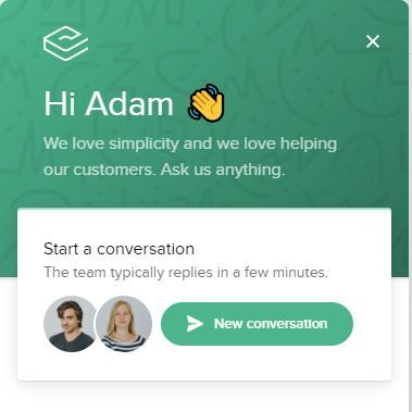 The Chat Support feature of Sales Layer
